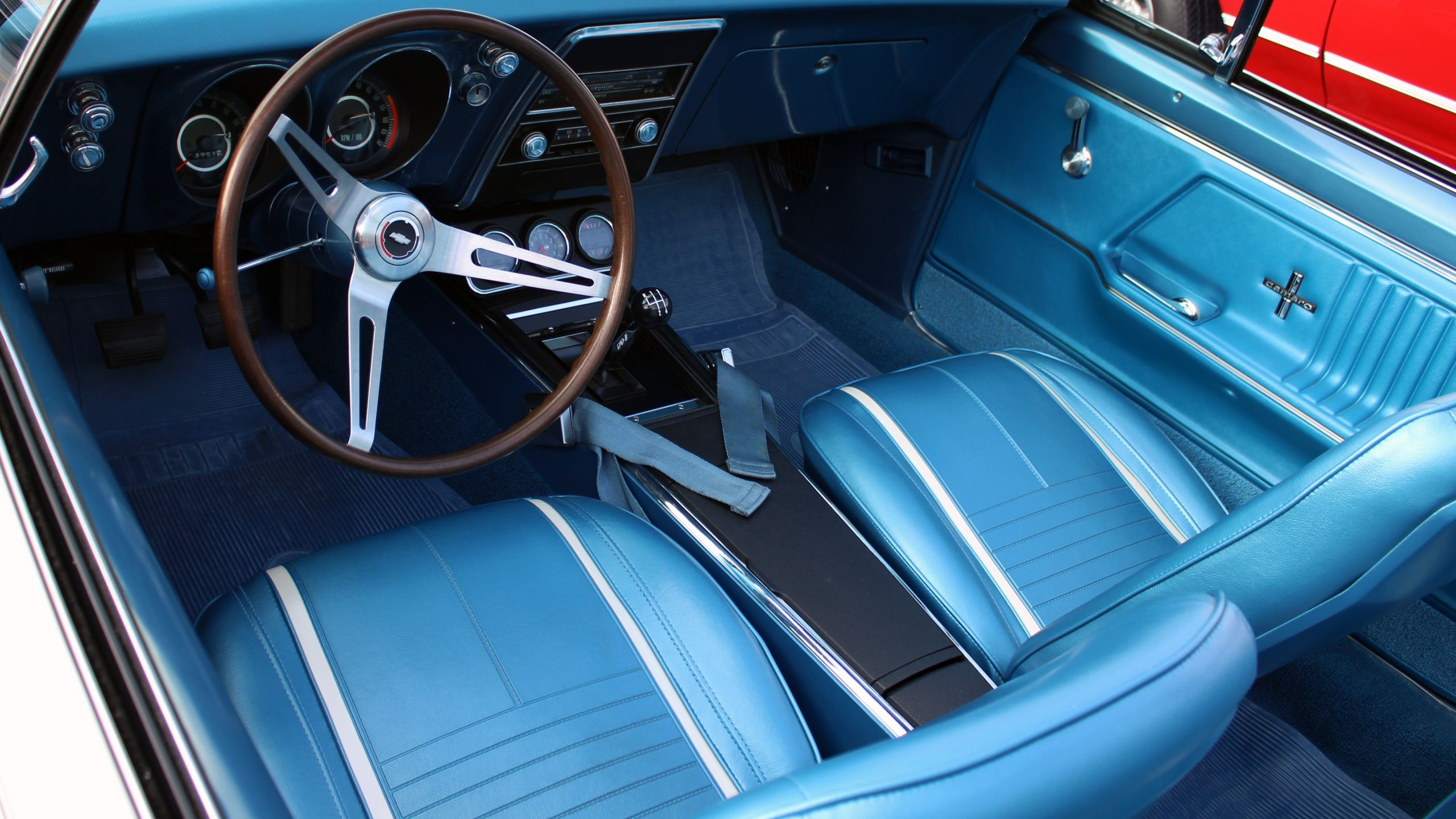 Chevrolet Camaro 1966 1969 Model Overview Muscle Gta Chevy Ss Blue Interior
