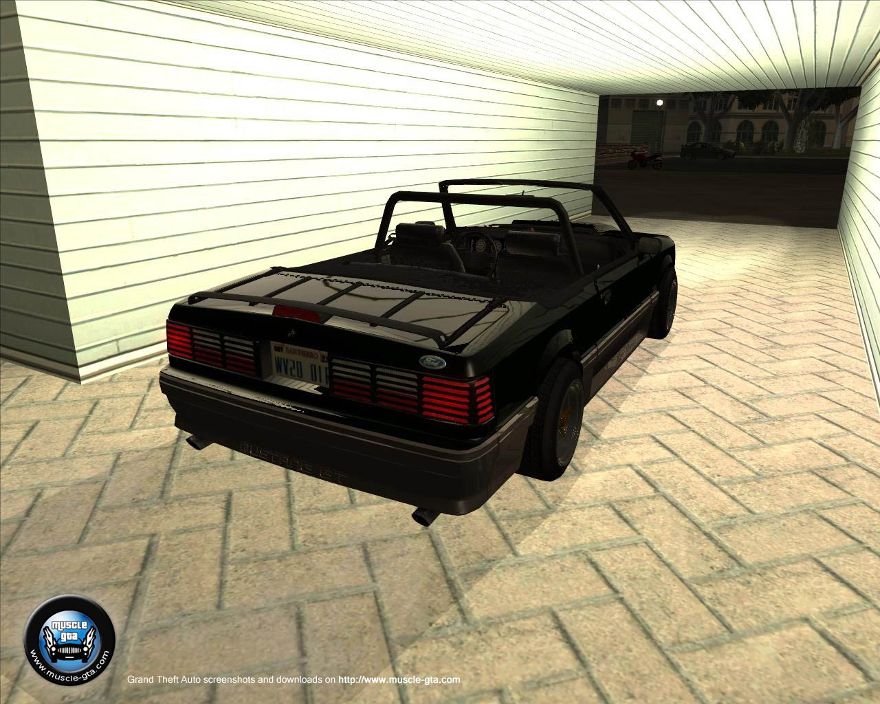 Screenshot of Ford Mustang GT 1987 Convertible mod for GTA San Andreas