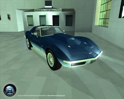 Screenshot of Chevrolet Corvette Stingray 1969 mod for GTA San Andreas