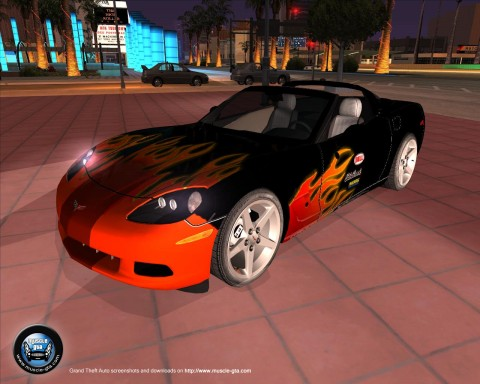 Screenshot of Chevrolet Corvette C6 2006 mod for GTA San Andreas
