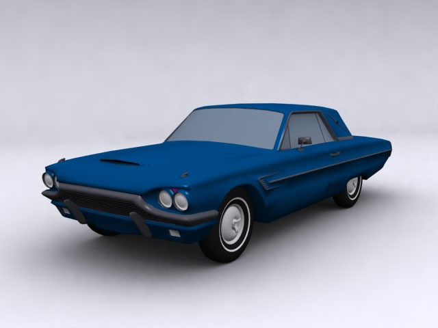 Ford Thunderbird 1964 3ds Max model sources for