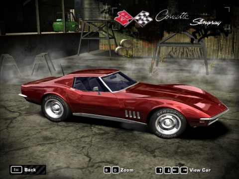 Corvette Stingray Race  on Chevrolet Corvette Stingray  1969  For Need For Speed Most Wanted