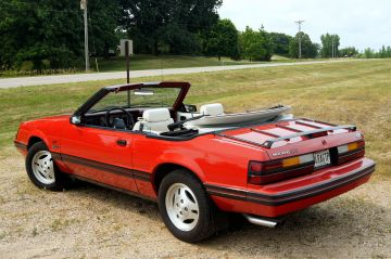 1984 Ford Mustang GT convertible rear
