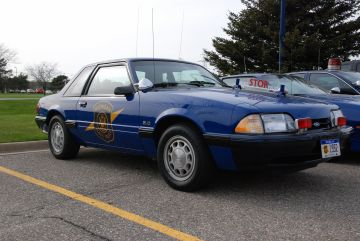 Michigan State Police cars -- 1992 Ford Mustang 5.0