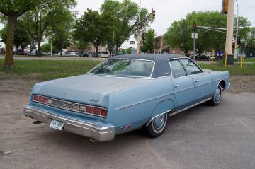 Blue 1974 Mercury Monterey rear