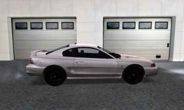 White Ford Mustang GT 1994