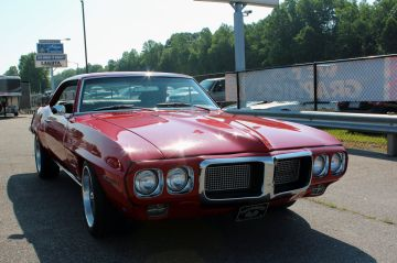 Red 1969 Pontiac Firebird