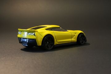 Hot Wheels Yellow Chevrolet Corvette C7 Z06