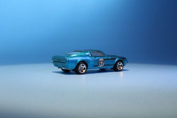 Rear view of Hot Wheels Cool Classics 67 Shelby GT500