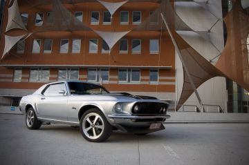 Silver Mustang 1969 Coupe in Belgium