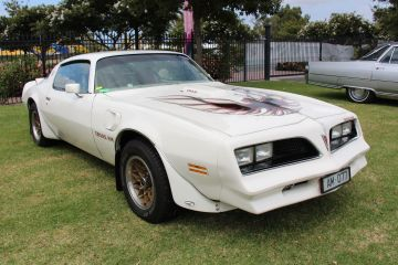 White 1977 Pontiac Firebird Trans Am Coupe